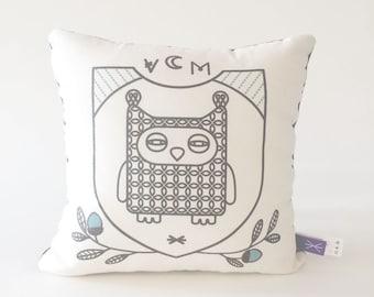 Owl  Pillow Screen Print