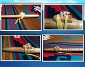 High C Native American Style Flute with Bear Totem