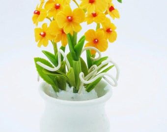 Handmade Polymer Clay Flowers Supplies Classic Orchids 1 piece
