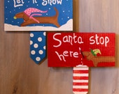 Dachshund Christmas Garden Sign