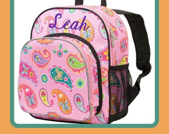 Monogram Backpack and Lunch Bag - Wildkin - Paisley - Preschool Day Pack Back to School