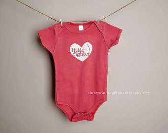 Little Fighter - open heart surgery- one-piece or tee (Pick Your Color & Size)