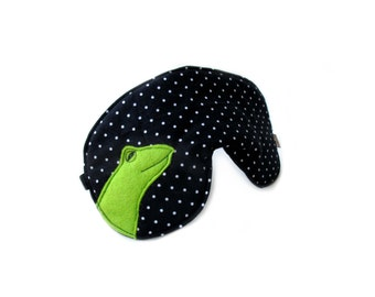 eyemask frog black adjustable sleep mask