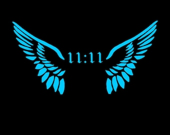 1111 Angel Wing Car Decal, Angel Wings Car Decal,11 11 Angel Wings Vinyl Car Decal,Angel Wing 1111, 1111 Car Sticker,Angel Wing 1111,Angels