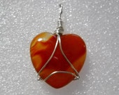 Carnelian Heart Amulet For Protection
