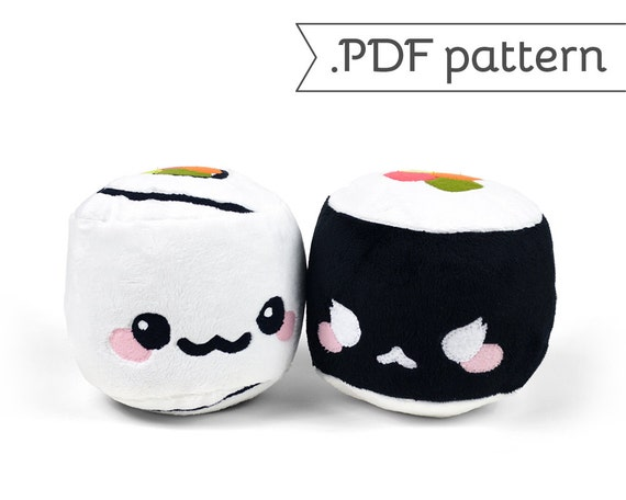 Maki Sushi California Roll Plush .pdf Sewing Pattern