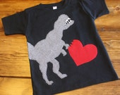 Valentines Day Shirt, Valentines Outfit, Love Bites Shirt, Dinosaur Shirt, Valentines Day Gift, Baby Boy Clothing, Made to Order