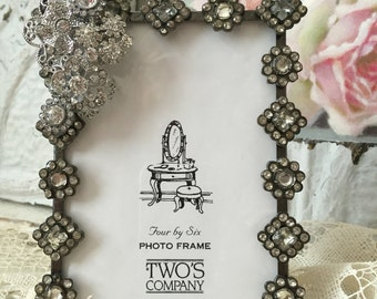 vintage twos company rhinestone picture frame picture frame bling boudoir vanity table decor