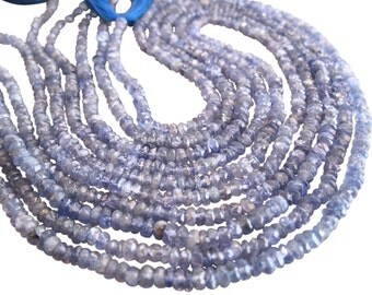 Tanzanite Beads, faceted Rondelle Beads, 3mm rondelles, Tanzanite rondelles, SKU 3389