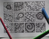 Twinchies Coloring Page - Instant Download  - Page #1