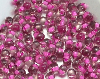 3.4mm Drops: Raspberry Lined Smoky Amethyst 12 grams (F32)
