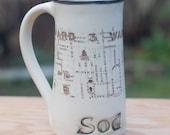Murdoch Inspired Sod Off mug by Bunny Safari Pottery
