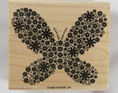 Butterfly of Flowers Stampin Up! Rubber Stamp #RS205