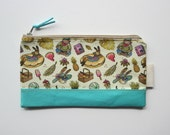 Aqua Accents - Summer themed Pattern - Pencil Case - Pouch