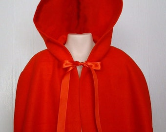 Little Red RidingHood, Capelet, Girls, Adult, Felicity, Red Fleece, Capelet  - Ready to Ship