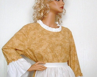 Woman 's Pioneer Civil War Colonial Market Day Dress Costume SZ X-large Ready to Ship