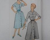 Vintage 50s Shirtwaist Dress Pattern New York 1387 Size 18 Bust 36 UNCUT