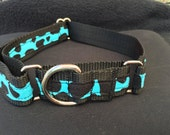 Electric Giraffe Martingale Dog Collar,  Training dog collar, Greyhound dog collar. Dog collars for sighthounds.