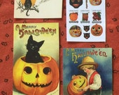 Miniature Vintage style Hallowwen cardstock images, pictures-free shipping