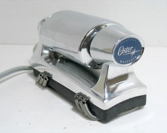 Vintage Oster Scientific 1 Massage Unit Chrome Vibrator  Hand Held Full Body Masager Swedish Style