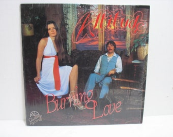 Vintage Vinyl LP Altitude burning love Private Hard/Soft Prog Rock Rare Female Guitar Solo Cascade in Shrink
