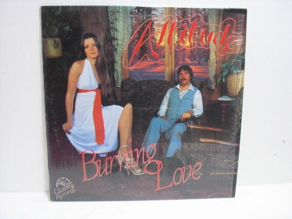 Altitude Burning Love LP, Vintage Vinyl Record, Private Hard/Soft Prog Rock, Rare Female Guitar Solo, Cascade in Shrink