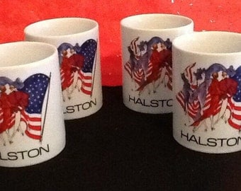 Vintage Halston Coffee Mugs