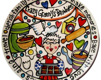 "CUSTOM 15"" Grandmother Platter Personalized nana grandmaw maw maw story platter"