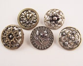 antique buttons steel jewels