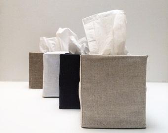 6 linen tissue covers