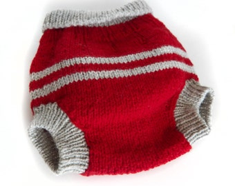 Wool Soaker Diaper Large Ohio State Colors!