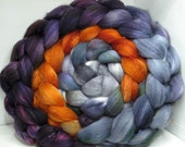 Organic Polwarth/Bombyx 80/20 Roving Combed Top 5oz - Thestral 2