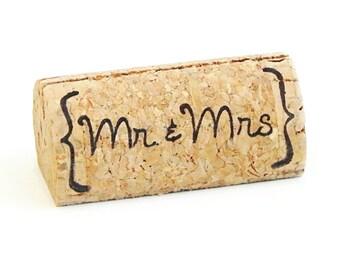 Custom Printed Wine Cork Place Card Holders - {Mr & Mrs}