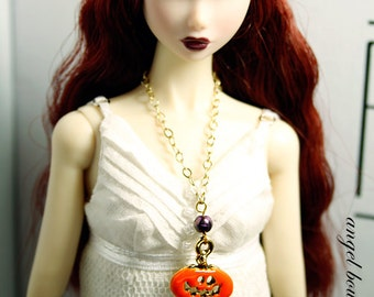 Spooky Pumpkin Charm Necklace