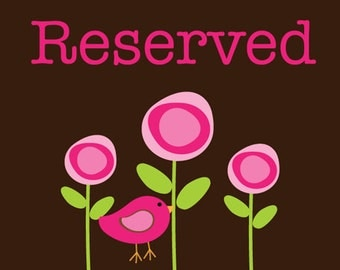 RESERVED FOR - Sarah