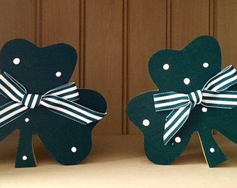 Shamrocks blocks, set of 2