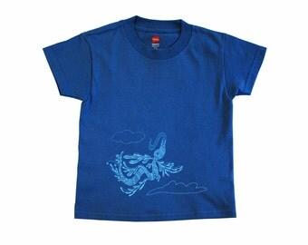 Youth XS Flying Beast Tee: Flying Wild, Denim Blue