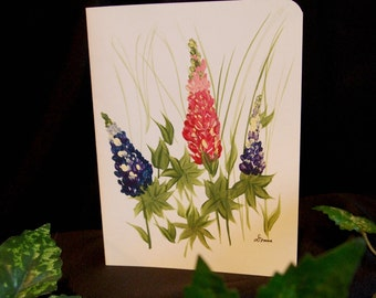 Hand Painted Floral Card