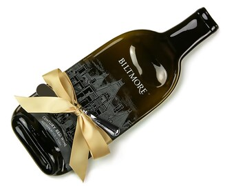 RESERVED -- Biltmore Century Red Wine Melted Bottle Cheese Tray / Gift for Mom / Ashville NC / The Biltmore Red Wine / North Carolina