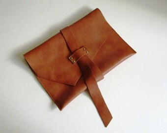 Wrap-Around Genuine Leather Clutch