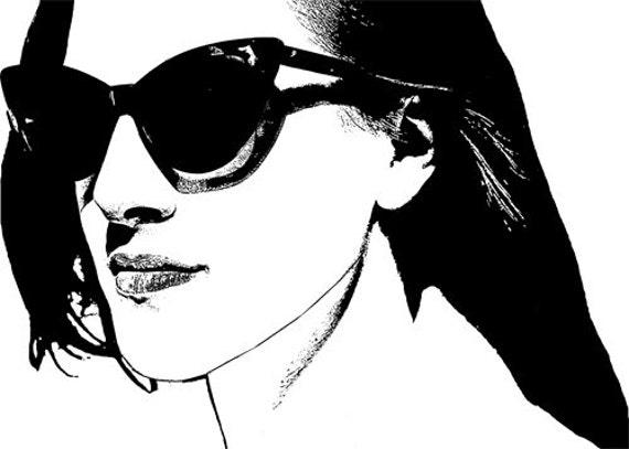 lady wearing sunglasses clipart png clip art eyes lips Digital Image Downloadable art printable art graphics womans FACE beauty fashion art