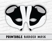 Badger Mask | Honey Badger Mask | Halloween Mask | Printable Mask