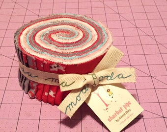 DESTASH SALE!!  Sherbert Pips by Aneela Hoey Jelly Roll