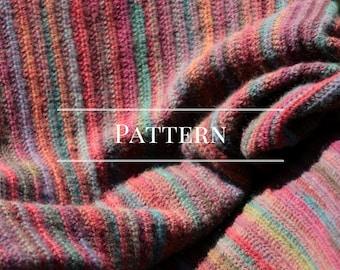 Crochet Blanket Aghan Pattern stripe with bobble border easy crochet stripe