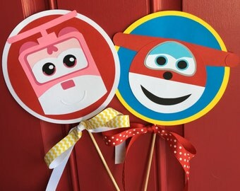 Super Wings Single Sided Table Decorations- Set of 2