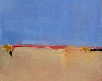 Abstract Landscape Painting, Minimalist Painting, Modern Painting, Summer 12x12 - West Elm artist, Coastal Decor, Wall Decor