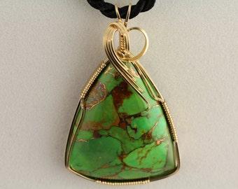 Mojave Turquoise Pendant. Listing
