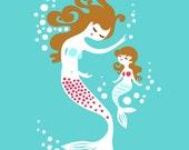 """5X7"""" Mermaids for Nancy"""