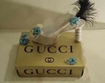Designer Shoe with box Centerpiece Large