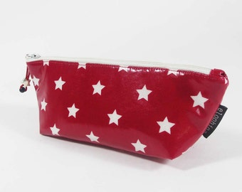 Star Print Laminated Pencil/Cosmetic Case